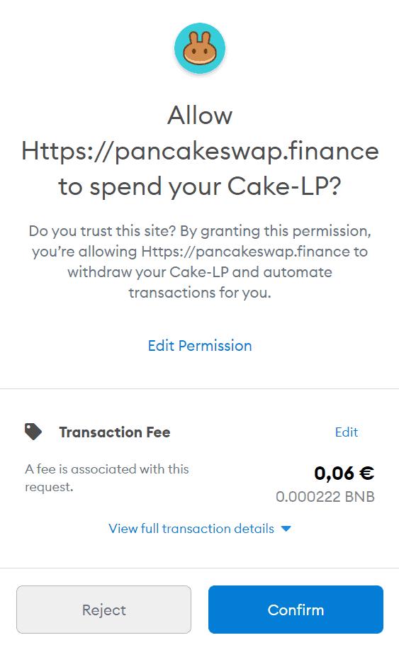granting permission pancakeswap