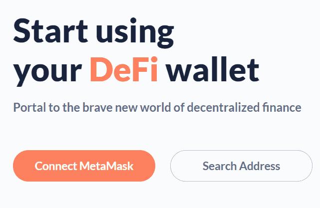 step 1 connect debank